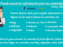 Fuentes de Informacion o de inspiracion para el marketing de contenidos