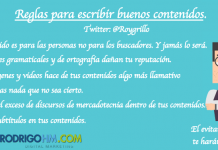 Reglas del Marketing de Contenidos