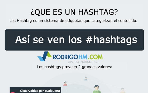 Infografia Que es un Hashtag