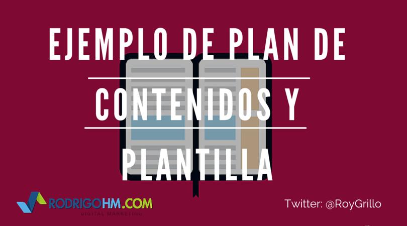 Ejemplo de Plan de Contenidos y Plantillas