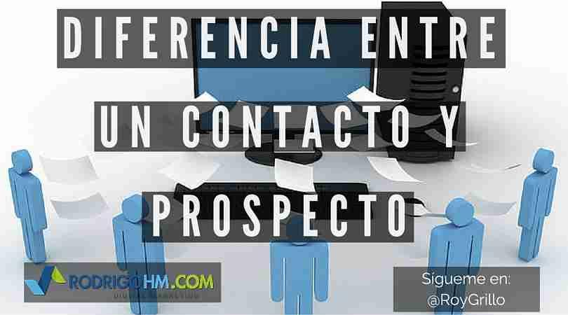 Contacto y Prospecto