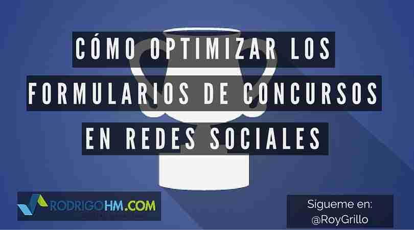 Formularios de Concursos en Redes Sociales