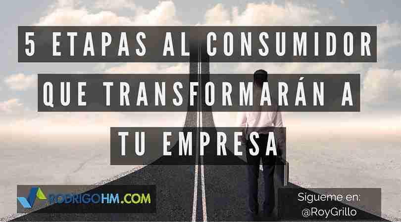 5 Etapas al Consumidor que Transformarán tu Empresa