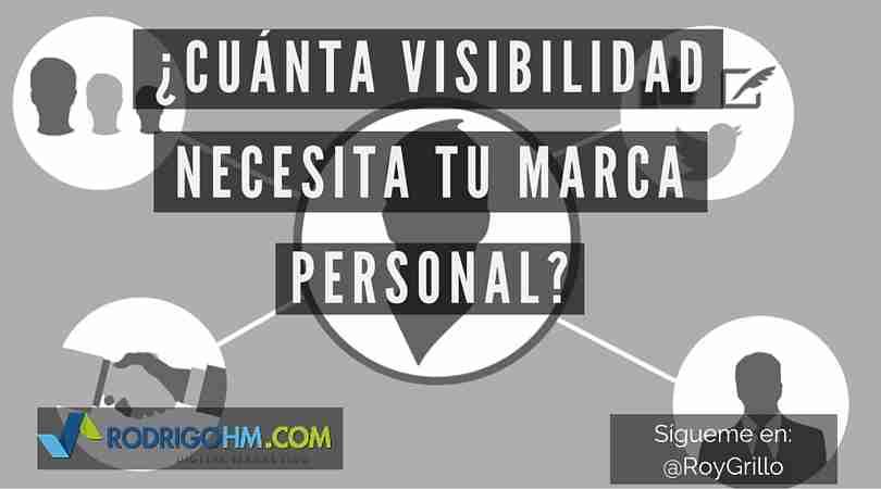 ¿Cuánta Visibilidad Necesita tu Marca Personal?