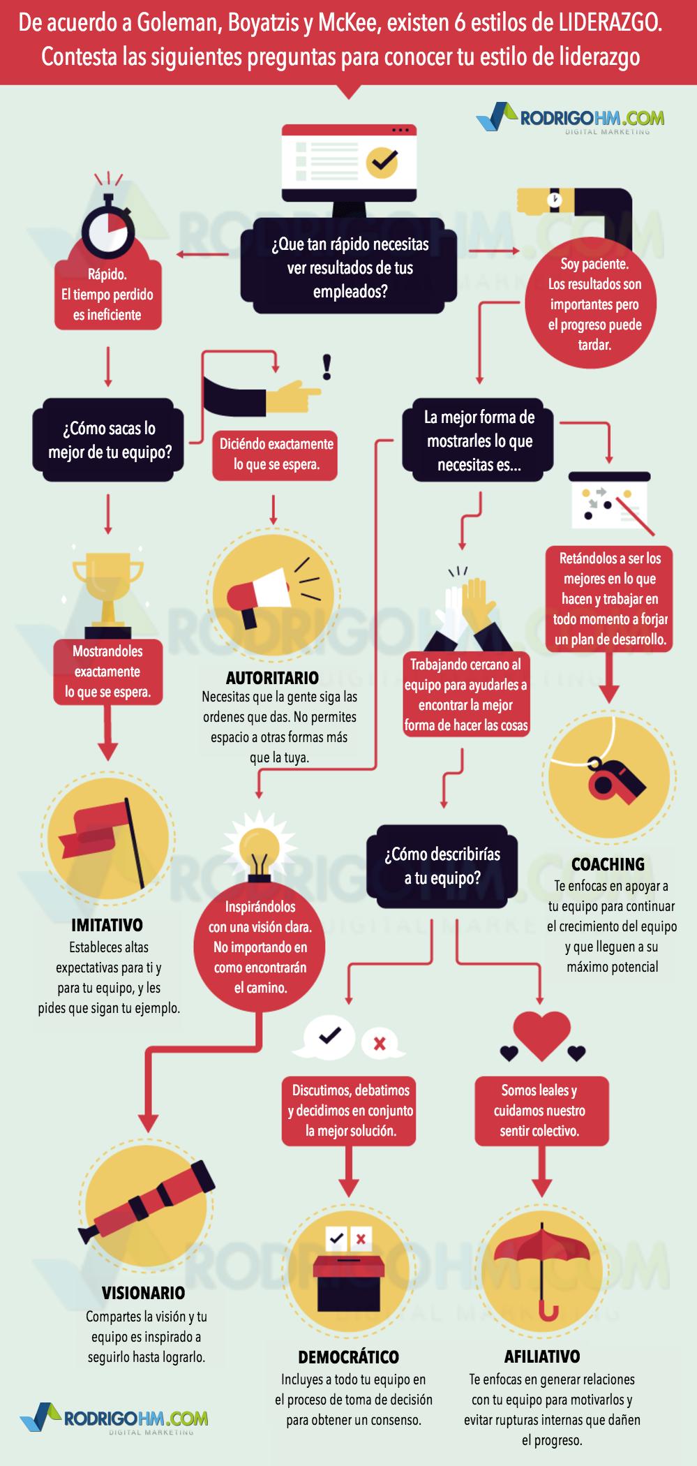 Tipos de liderazgo. Principales formas de liderar y Cómo Aplicarlas