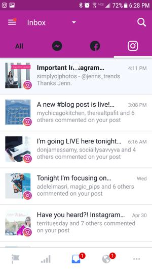Cómo Administrar Instagram desde el Inbox de Facebook