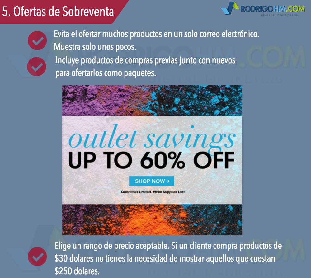 Correos Electronicos para Ecommerce / Email Marketing