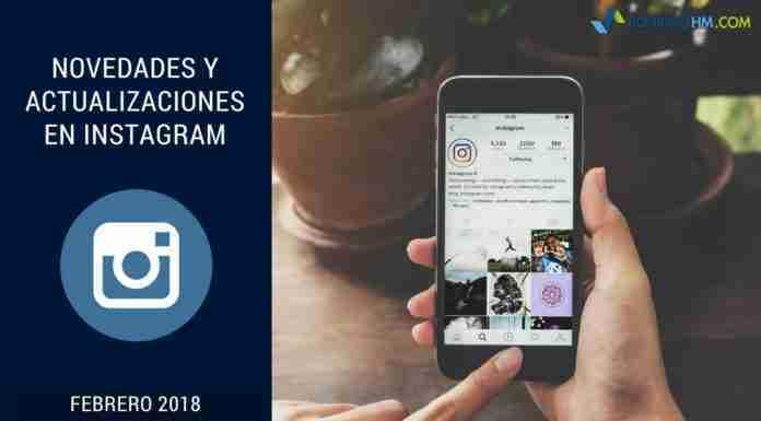 Actualizaciones Instagram 2018