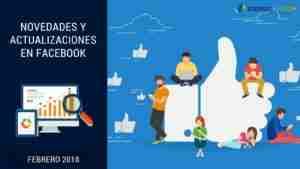 Actualizaciones Facebook 2018