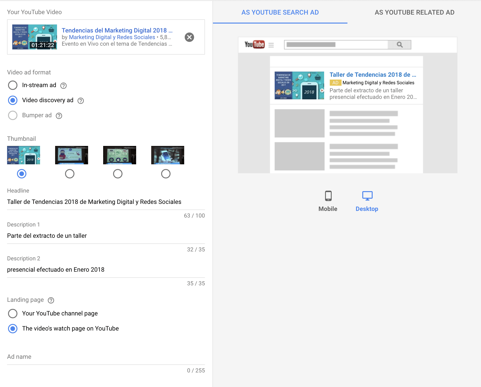 Cómo Promocionar Tus Videos de YouTube con Google AdWords